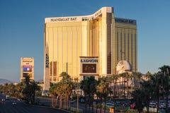 Las Vegas, NEVADA/USA - 1 AUGUSTUS; Mening van de Baaihotel van Mandalay binnen stock fotografie