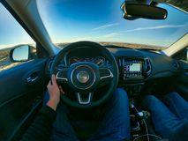 Las Vegas, Nevada, USA, 08/04/2019 Autofahren in Amerika lizenzfreie stockfotos