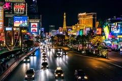 Las Vegas, NEVADA/USA - 2 de agosto; Escena de la noche a lo largo de la tira i Imagenes de archivo