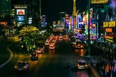 Las Vegas, NEVADA/USA - 2 de agosto; Escena de la noche a lo largo de la tira i Fotografía de archivo libre de regalías