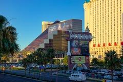 Las Vegas, NEVADA/USA - 1 de agosto: Vista del hotel i de Excalibur fotos de archivo