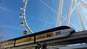 Las Vegas, Nevada, USA Der High Roller Ferris Wheel während eines wunderbaren Tages stock footage