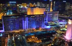 Las Vegas Nevada, USA - Januari 23, 2016: Las Vegas horisont från den höga rullen Ferris Wheel arkivfoto