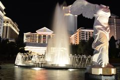 Las Vegas, Nevada, USA - January 24, 2015: Fountain In Caesars Palace. The Las Vegas Strip is a stretch of South Las Vegas Boulevard in Clark County, Nevada that stock image