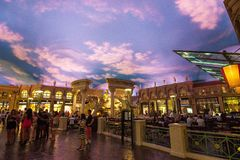 Forum shops in Caesar`s Palace in Las Vegas stock images
