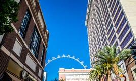 High Roller, the famous ferris wheel. Las Vegas Tourist Attractions, Nevada. Las Vegas, Nevada, USA - June 19, 2017: High Roller - the famous Ferris wheel in Las Royalty Free Stock Photo