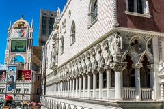 Grand Canal Shoppes at The Venetian. The famous shopping center in Las Vegas. Las Vegas, Nevada / USA - June 18 2017: Treasure Island Hotel and Casino and Grand Stock Image