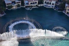 Las Vegas Nevada - USA - Juni 05,2017 - inspirerad vattenshow Vegas Fotografering för Bildbyråer