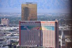 Las Vegas, Nevada - USA - Juni 05,2017 - sikt av trumfen och T Arkivbilder