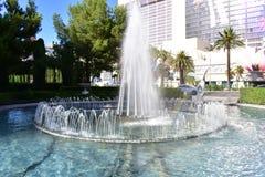 Las Vegas Nevada - USA - Juni 05,2017 - vattenspringbrunn i Las V Arkivbild