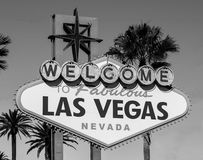 LAS VEGAS NEVADA, usa - LISTOPAD 2016: Widok ikonowy Betty Willis projektował powitanie Bajecznie Las Vegas znak Fotografia Stock