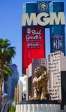 Las Vegas, Nevada/USA: Am 11. Mai 2018: Lion Statue in Mgm- Grandhotel lizenzfreie stockfotos