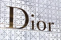 LAS VEGAS, NEVADA, USA - 13. MAI 2019: Logo von Christian Dior-Speicher in Wynn-Hotel in Las Vegas, USA Produzent und Hersteller stockbild
