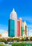 Las Vegas Nevada, USA - Maj 04, 2016: New York hotellkasino Fotografering för Bildbyråer