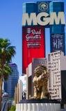 Las Vegas, Nevada/USA: May 11, 2018: Lion Statue at MGM Grand Hotel royalty free stock photos