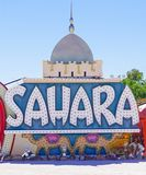 Las Vegas, Nevada/USA: May 12, 2018- A Vintage Casino Sign at th. Las Vegas, Nevada/USA: May 12 , 2018- Sahara Vintage Casino Sign at the Neon Museum stock images