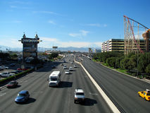 LAS VEGAS, NEVADA, USA. NOVEMBER 11: Aerial View Busy Street  2012 Royalty Free Stock Photo
