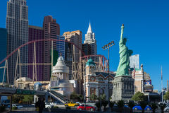 LAS VEGAS NEVADA, USA: AM 18. NOVEMBER 2016 - New York, New York, Las Vegas Blvd USA Lizenzfreie Stockfotos