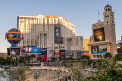 LAS VEGAS NEVADA, USA - November 2016: View toward Planet Hollywood from the Bellagio Stock Photography