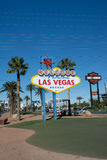LAS VEGAS NEVADA, USA - November 2016: View of the Welcome to Fabulous Las Vegas Sign Stock Images