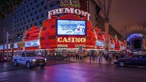 Fremont casino Las Vegas at night