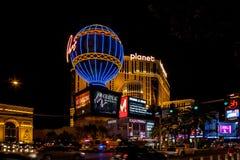 LAS VEGAS, NEVADA/USA - SIERPIEŃ 2: Gorące powietrze balonowa replika Paryż obraz stock