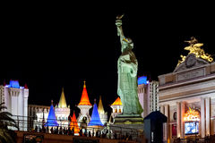 Las Vegas, NEVADA/USA - SIERPIEŃ 2; Repliki statua Libert zdjęcie stock