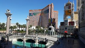 Las Vegas Nevada the Venetian Grand Canal. Treasure Island royalty free stock image