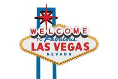 Las Vegas Sign Isolated Stock Photography