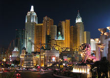 Las Vegas New York New York. The New York New York hotel on the Las Vegas strip, Nevada Stock Image