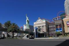 Las Vegas - New York New York hotell Arkivbilder