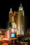 Las Vegas New York nya Yourk på natten Nevada USA Royaltyfria Foton