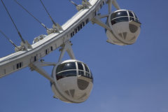 Las Vegas newest attraction The High Roller Ferris Wheel cabins Royalty Free Stock Photo