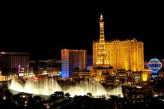 Las Vegas by night Royalty Free Stock Photos