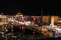 Las Vegas at Night. With lights Stock Images