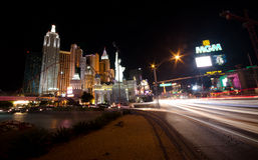 Las Vegas at night Royalty Free Stock Photo