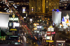 Las Vegas at night Royalty Free Stock Photography