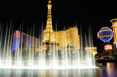 Las Vegas at night. Las Vegas strip landmark at night Royalty Free Stock Photo