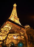 Las Vegas at night. Paris in Las Vegas at night Stock Photo