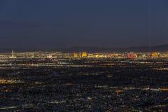 Las Vegas Night Aerial Stock Image