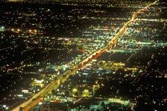 Las Vegas at night from air, NV Stock Photography