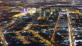 Las Vegas (night ariel) Stock Photography