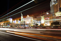 Las Vegas Night Light royalty free stock images
