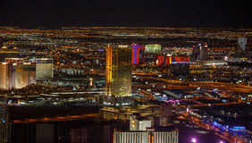 Las Vegas at night. royalty free stock photography