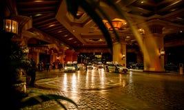 Bellagio Taxi, Las Vegas by night. Royalty Free Stock Photo