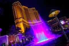 Las Vegas by night. Las Vegas night, long awaited by tourists from around the world. Luck present winning numbers. Casino Las Vegas Nevada royalty free stock photo