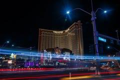 Las Vegas by night. Las Vegas night, long awaited by tourists from around the world. Luck present winning numbers. Casino Las Vegas Nevada royalty free stock image