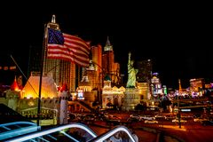 Las Vegas by night. royalty free stock photography