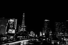 Las Vegas at night. Longexposure shot of Las Vegas royalty free stock images