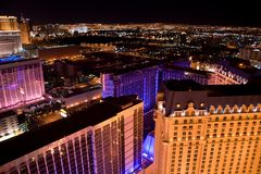 Las Vegas Night Panorama Stock Photo